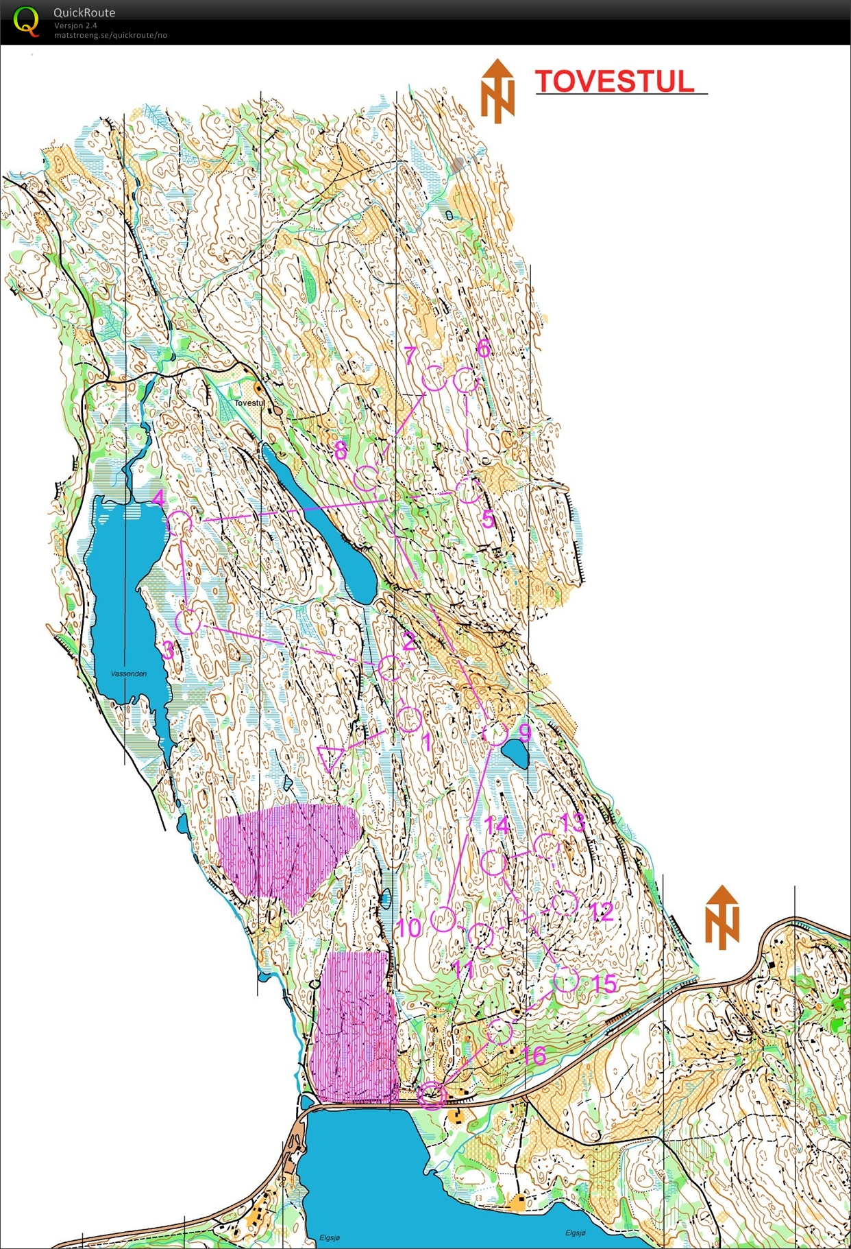 Mellomdistanse p Notodden July 11th 2017 Orienteering Map from